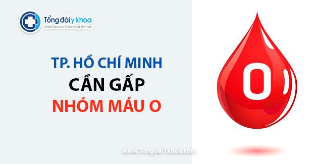 TP.HCM đang cần gấp máu nhóm O trong ba ngày tới