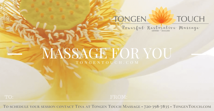 Massage Gift Certificate in Denver massage in Boulder