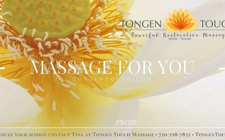 Denver massage therapy massage gift certificate