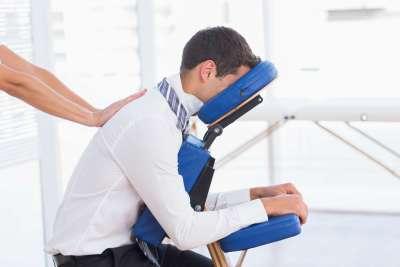 chair massage Denver event office health fair
