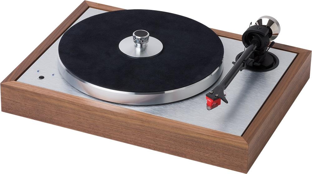 The Classic SB SuperPack - Plattenspieler-Set mit Plattenklemme, Ledermatte und Quinted Red Tonabnehmer.