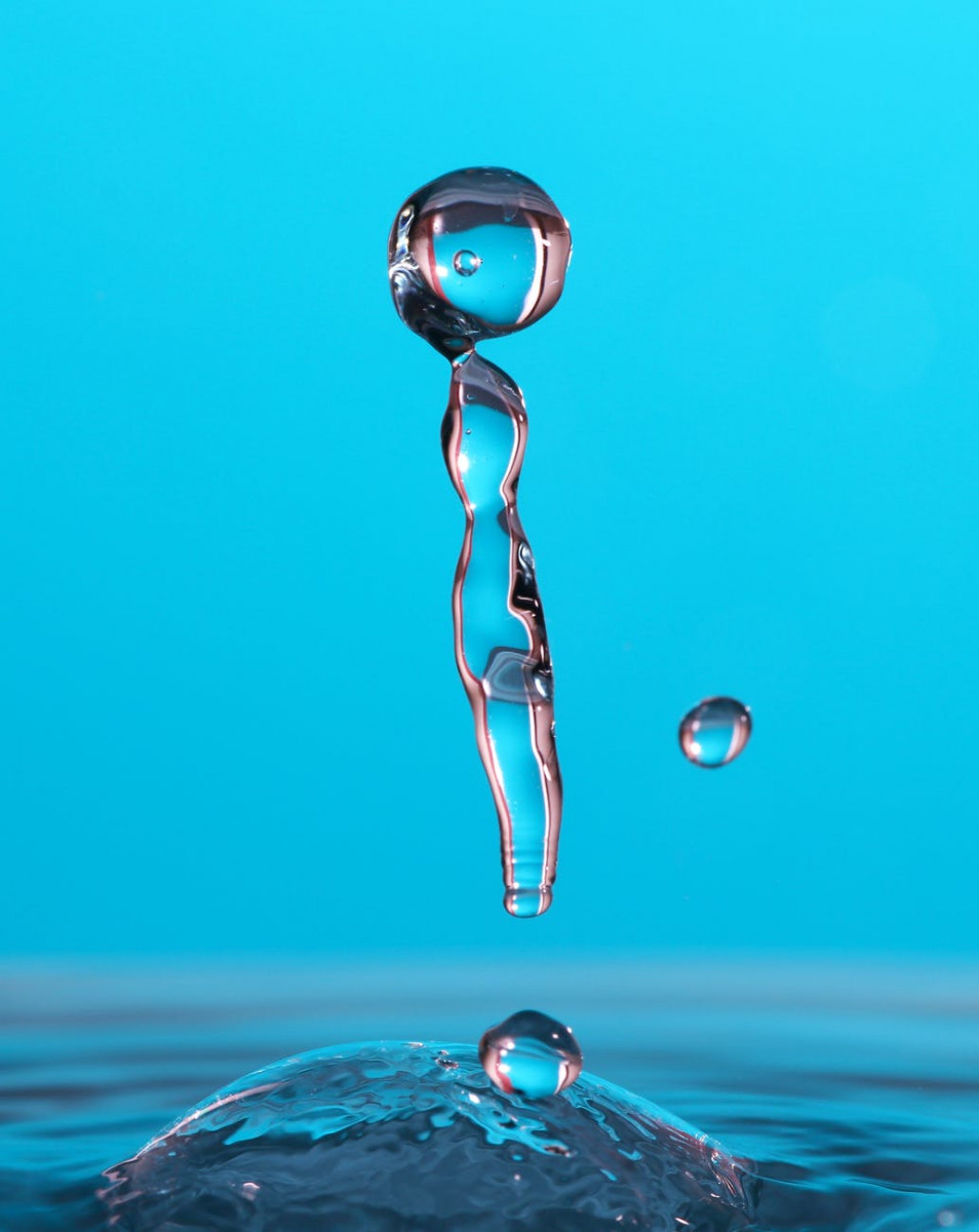 water drop close up photography