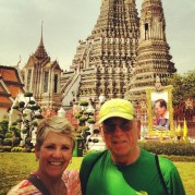 In front of Temple of Dawn
