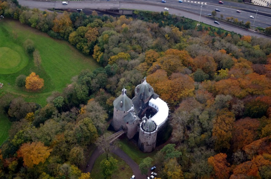 Castell Coch from the air by John Bulpin