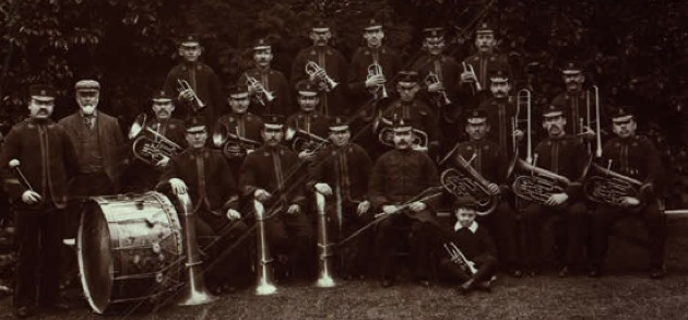 Old photo of Tongwynlais Band