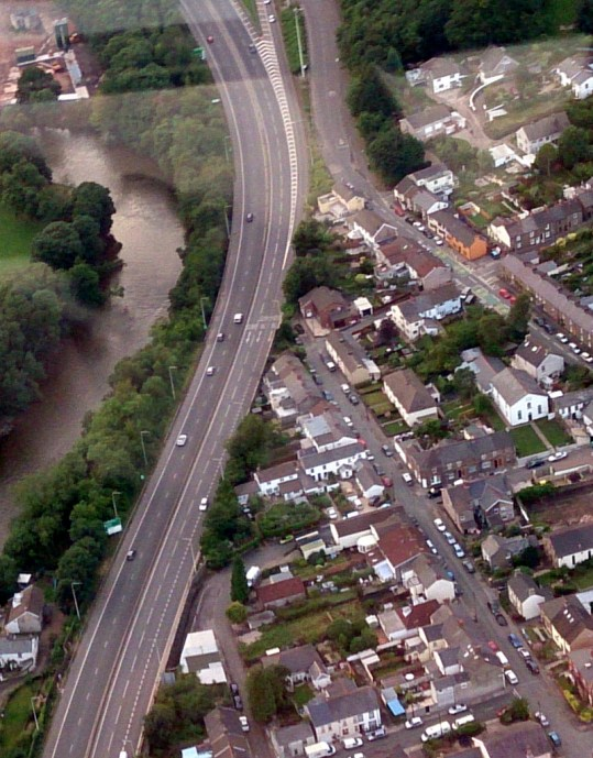 Tongwynlais from the air by John Bulpin