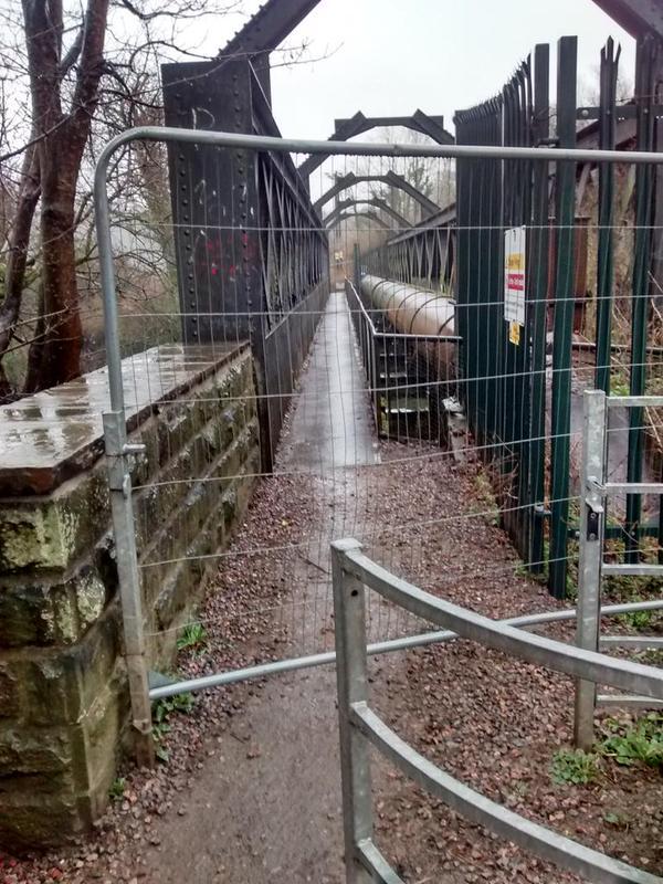 Iron bridge closed