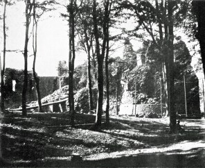 Castell Coch during construction, 1875