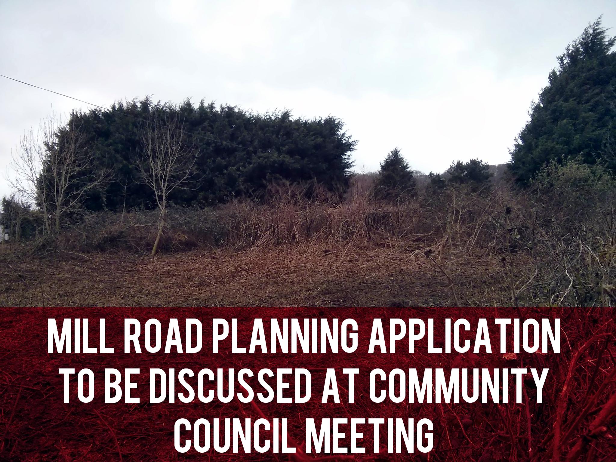 Mill Road planning application header