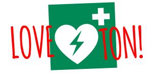 Love Ton defibrillator appeal logo