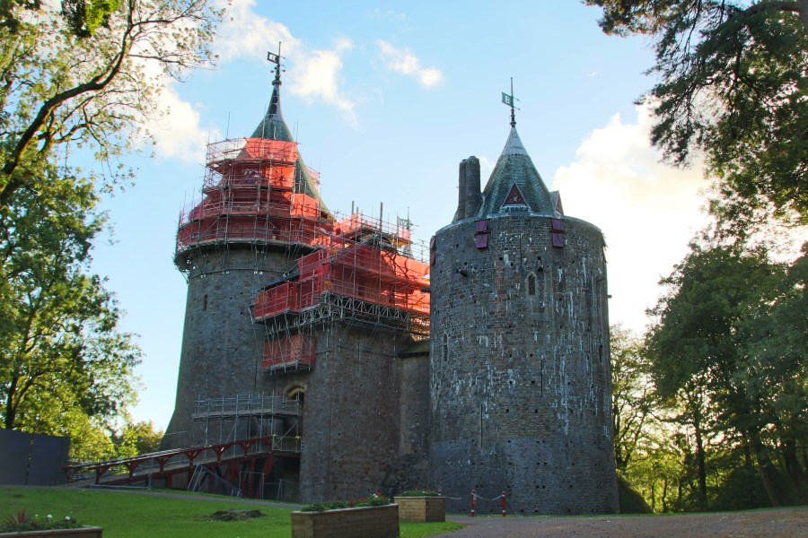 Castell Coch with scaffolding