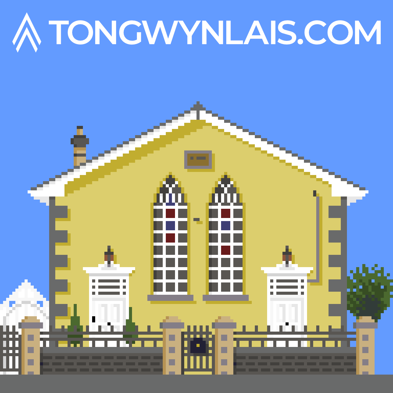 Pixel art illustration of Hermon Chapel