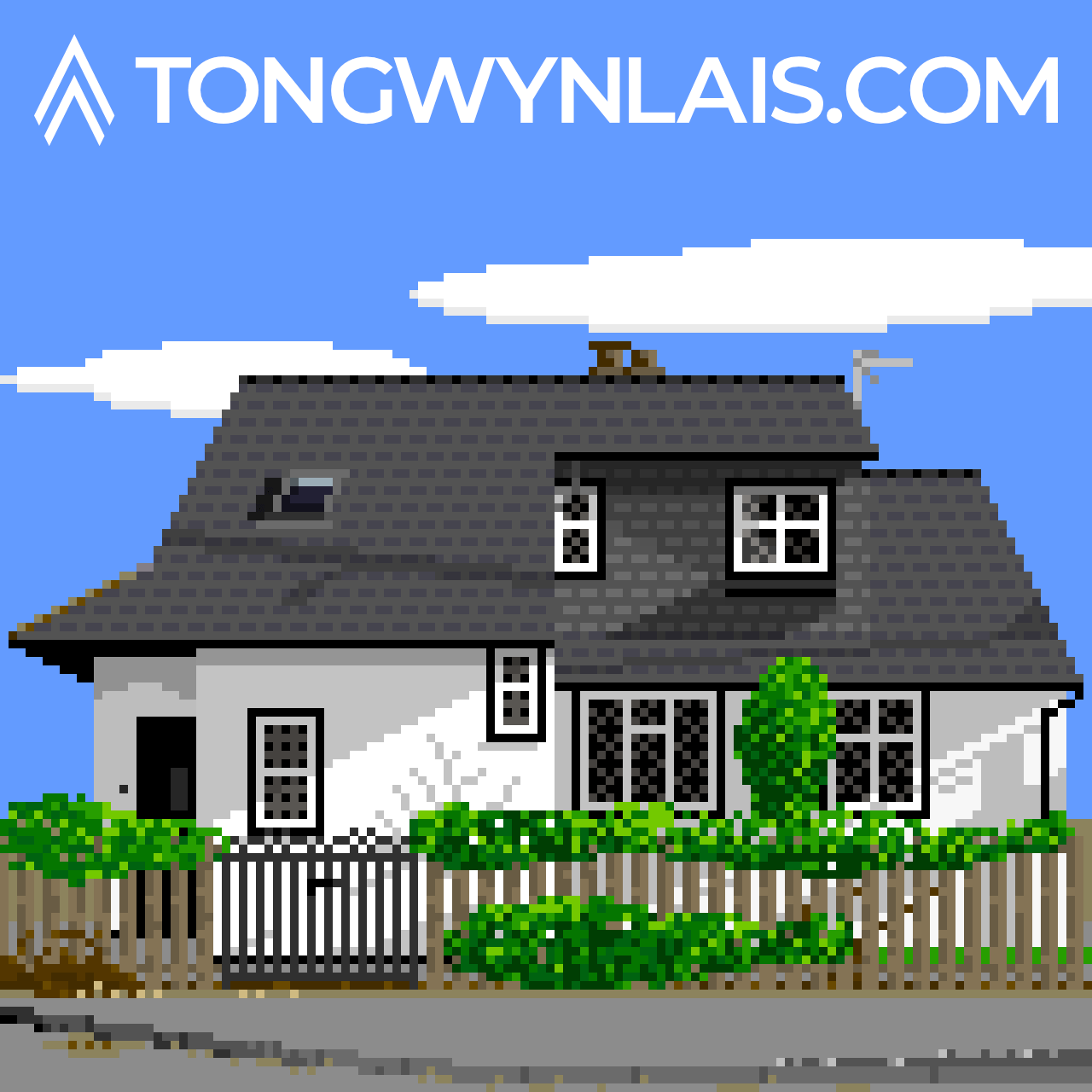 Pixel art illustration of a house