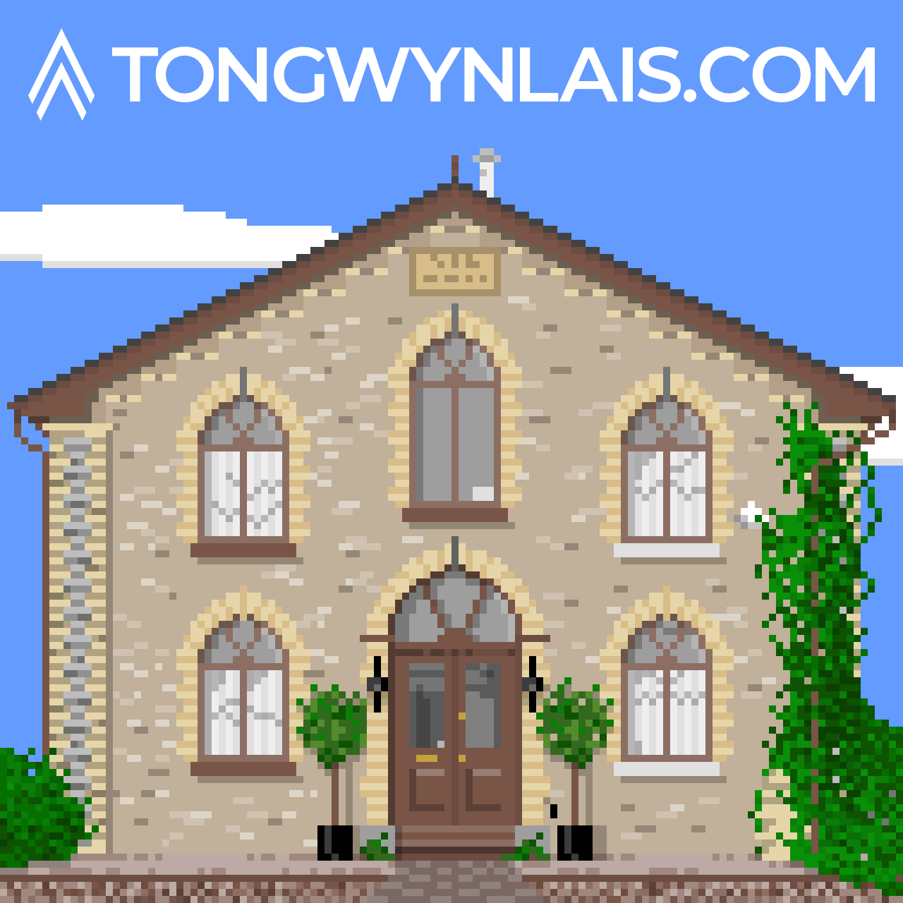 Pixel art illustration of Salem Chapel