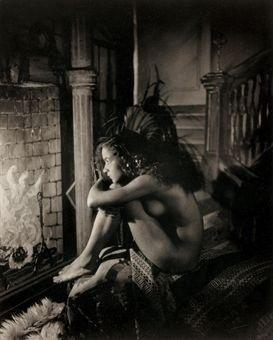 nude by fireplace | James Van Der Zee