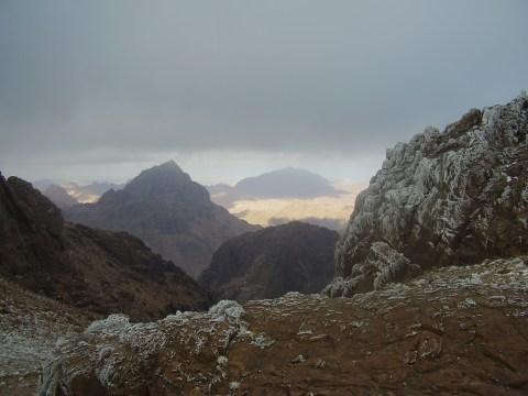 Mt. Sinai is the peak in the distance.  Taken by WP treksanai.