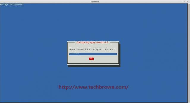 2 configuring Mysql server root repeat password