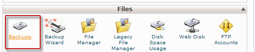 Restoring backup in cPanel