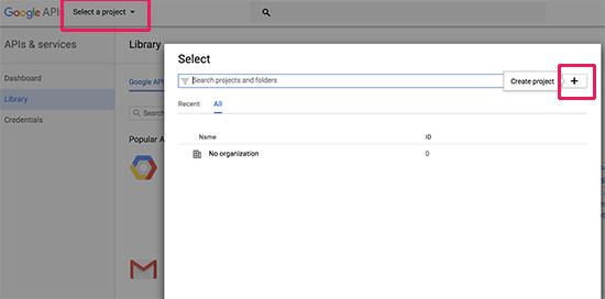 New Google developer project