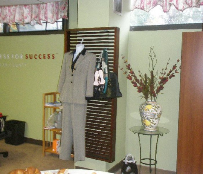 Dress for Success Outreach display