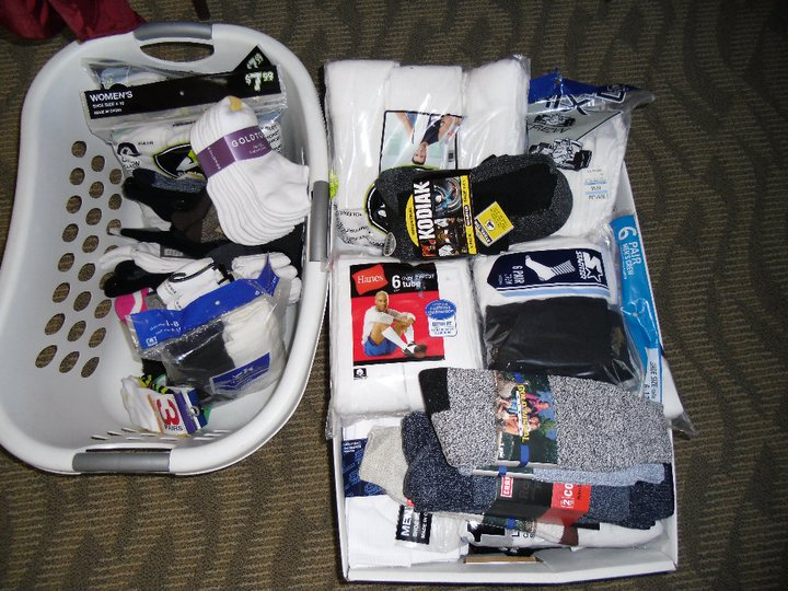 sock collection donation