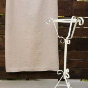 Linen Skirt with Wrought Iron Plant Holder