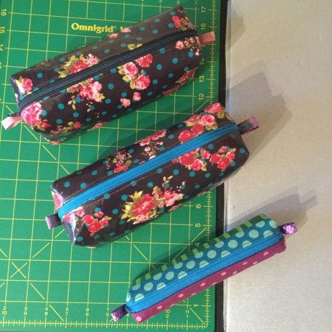 Oil Cloth Zipper Pouch