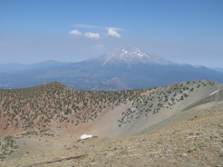 view of Mt Shasta from the summit
