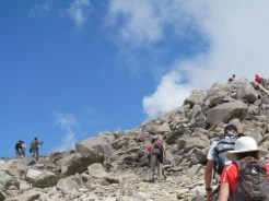 Quite a few folks heading to the summit