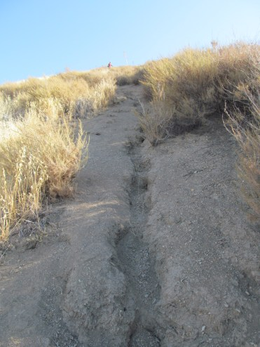very steep section of Grass Mountain