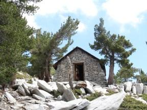 the hut near the summit