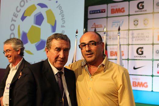 Carlos Alberto Parreira con Toni Cortes en Footecon