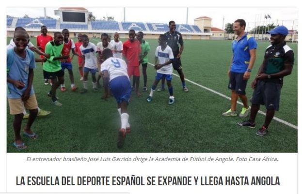 escuela del deporte español en Angola