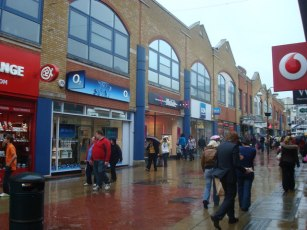 Crawley Town Centre, but could be any town around Britain