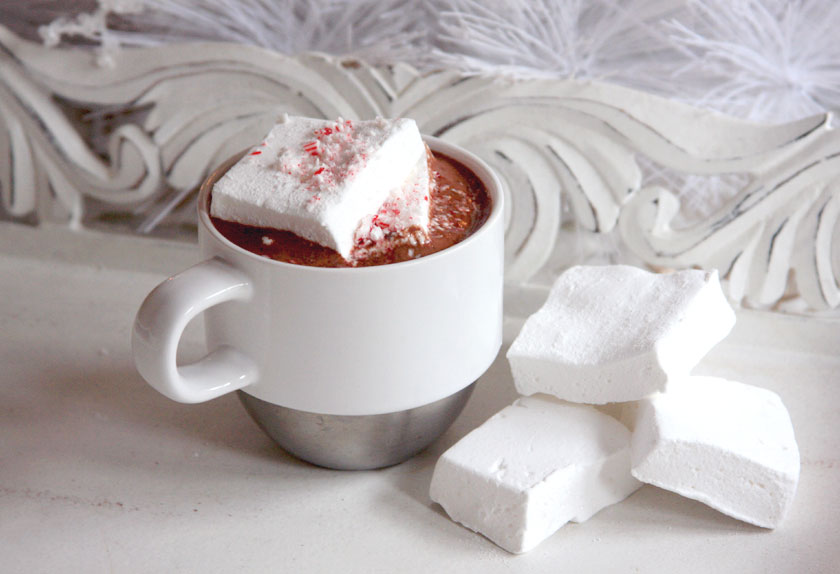 Peppermint Hot Chocolate and Marshmallow Recipe