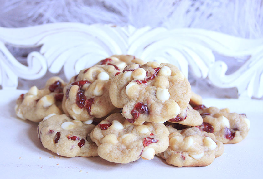 White Chocolate Chip Cranberry Soft Baked Cookies