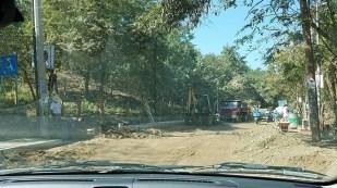Road construction in Mazunte