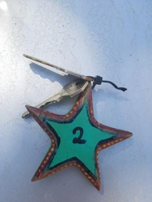 Our room key for Hotel Estrella de Mar
