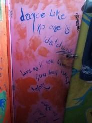 Wall inside bathroom El Sultan, Puerto Escondido