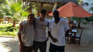 Tino, David and Glen, Hotel Estrella de Mar, Playa Zipolite