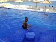At the pool, Quinta Bella,