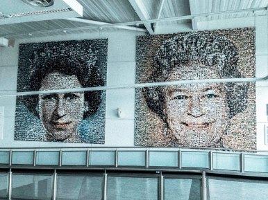 Queen mural in Gatwick Airport