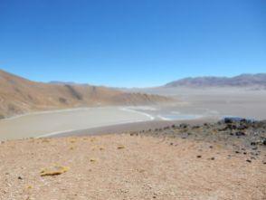 Blick in die Caldera des Vulkan Galan.