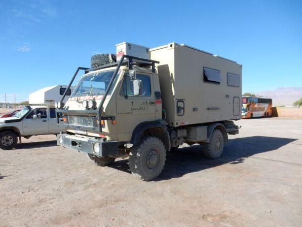 Der Truck von Willi und Eva in San Pedro de Atacama
