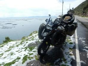 Schnee am Titicacasee