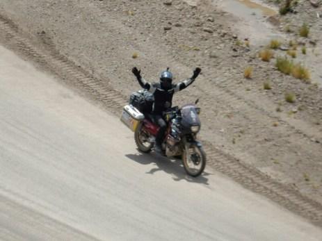 Tommy auf seiner Reise von Ushuaia bis Kanada - hier im Colca Canyon