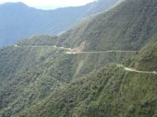 Weltbekanntes Streckenprofil der Death Road