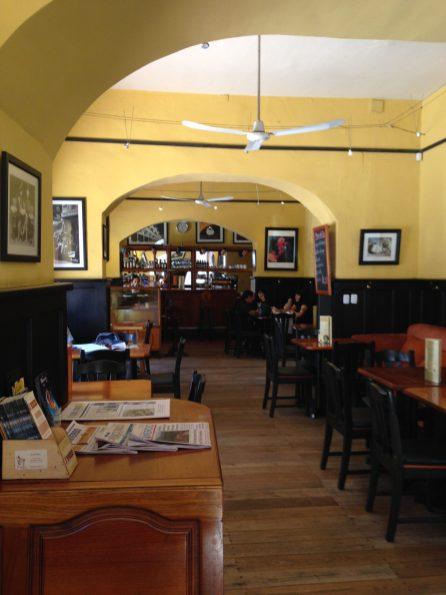 Bei Frank (aus Würzburg) im Café Austria