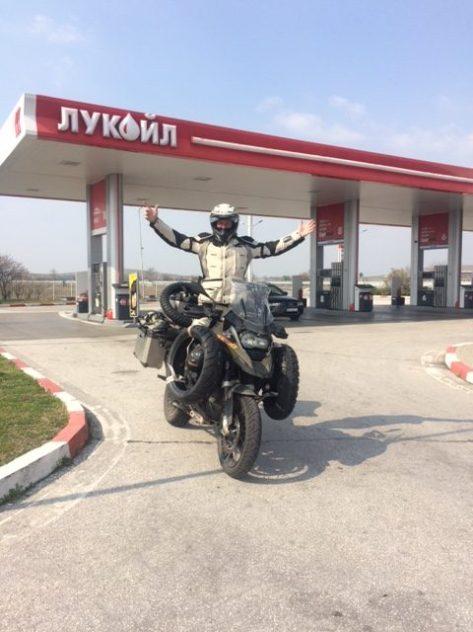 Letzter Tankstopp vor der Türkei in Plovdiv