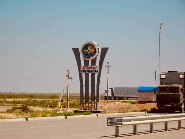 Grenzübergang von Astrachan nach Atyrau